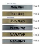 Nanjing Clock Name Plate |World Time Zone City Wall clocks Sign custom Plaque